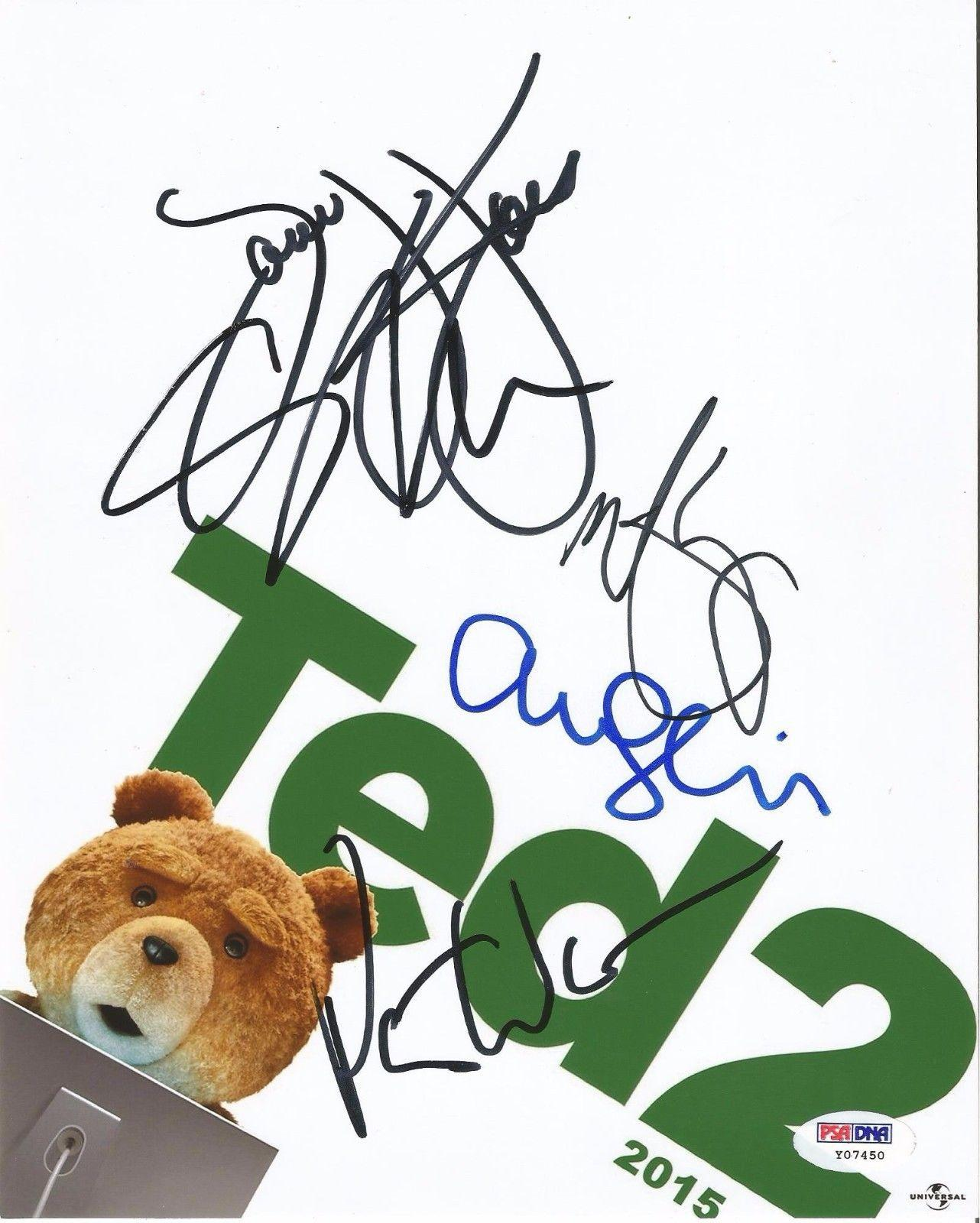 Seth Macfarlane Mark Wahlberg Seyfried Jones Signed Ted 2 8x10 Photo Psa/dna Loa