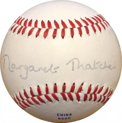 Margaret Thatcher Signed Official CROLB League Baseball Bold Auto PSA DNA