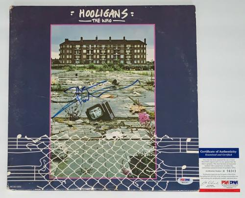 Pete Townshend The Who Signed Hooligans Record Album Psa Coa H84303