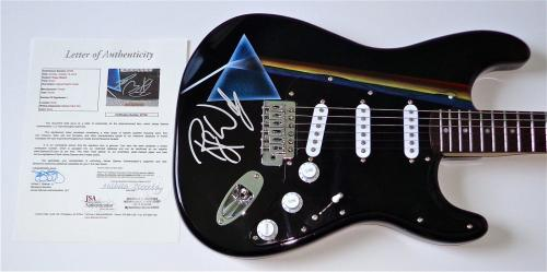 Roger Waters Pink Floyd Signed The Dark Side Of The Moon Airbrushed Guitar Jsa