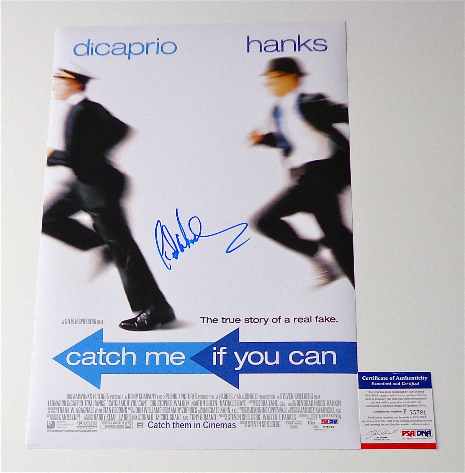 Frank Abagnale Signed Catch Me If You Can 12x18 Movie Poster Psa