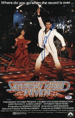 Frank John Travolta Saturday Night Fever Authentic Signed 8x10 Photo Bas #c19223 Autographs-original Movies