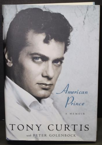 """TONY CURTIS signed 1st Edition copy of """"American Prince""""-JSA G31033"""