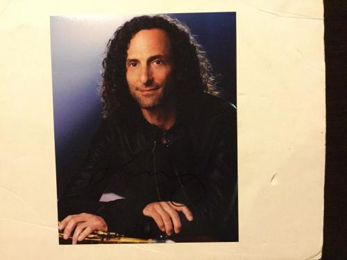Autographed 11 x 17 poster Kenny G