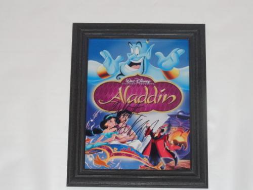 "Gilbert Gottfried Signed Framed ""aladdin"" 8.5x11 Movie Poster Iago"