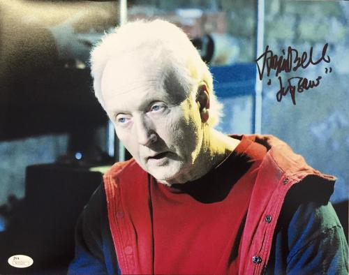 Tobin Bell Saw (Jigsaw) Signed 11x14 Photo JSA N35223