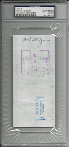 Trent Reznor Signed Bank Check Rare Full Name Nine Inch Nails Psa Encap 83786742