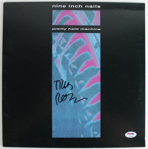 "Trent Reznor Signed Nine Inch Nails ""pretty Hate Machine"" Sleeve Psa/dna Z92846"