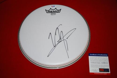 VINCE NEIL motley crue front man remo signed PSA/DNA  drumhead 1 proof