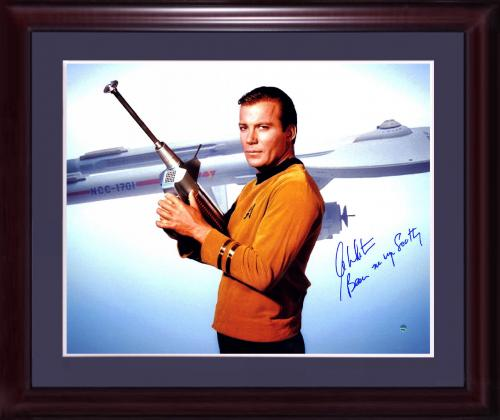 William Shatner Kirk Signed 16x20 star trek photo framed auto INS Steiner COA