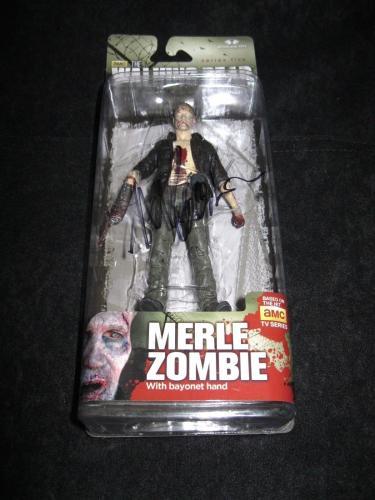 """Michael Rooker Signed 'the Walking Dead' Mcfarlane Figure """"zombie Merle"""" Jsa Coa"""