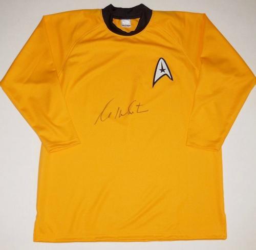 William Shatner Autographed Star Trek Uniform Shirt (capt. Kirk) - Jsa Coa!