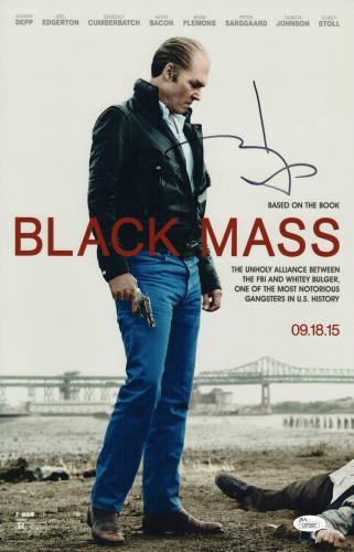 Johnny Depp Signed Black Mass 11x17 Movie Poster Jsa Coa L87297