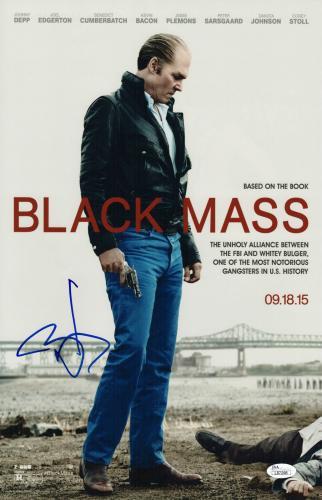 Johnny Depp Signed Black Mass 11x17 Movie Poster Jsa Coa L87298