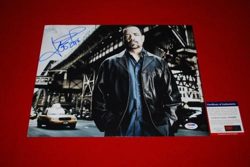 ICE T law & order hip hop rap  legend signed PSA/DNA 11x14 photo
