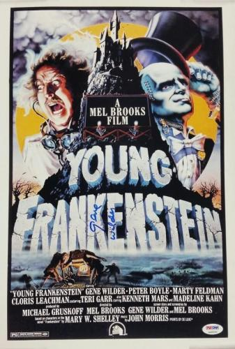 Gene Wilder Signed Young Frankenstein 12x18 Photo Movie Poster Auto w/ PSA/DNA