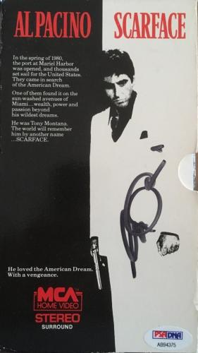 RARE-FULL SIGNATURE- AL PACINO (Scarface) signed Original 1983 VHS PSA-AB94375