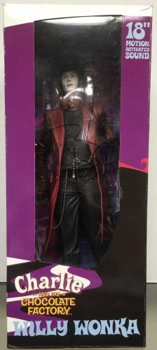 "JOHNNY DEPP signed Charlie & the Chocolate factory 18"" Talking Action Figure-JSA"