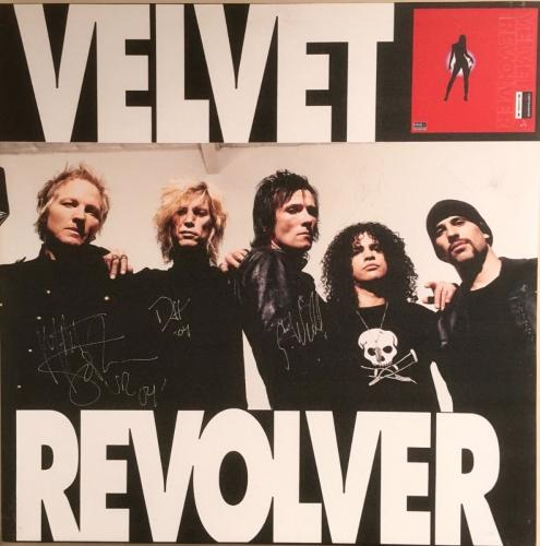RARE-VELVET REVOLVER 2004 -Contraband promo canvas signed by entire band-WEILAND