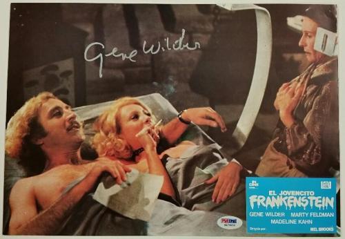 GENE WILDER Signed 9.5x13 Original Lobby Card #4 YOUNG FRANKENSTEIN PSA/DNA COA