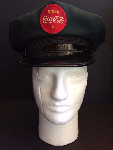 1950's, Coca-Cola Delivery Man's Hat (Green) Scarce / Vintage