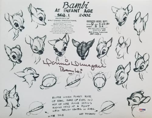 DONNIE DUNAGAN Signed BAMBI 11x14 Poster Photo PSA/DNA COA Proof Pic Autograph