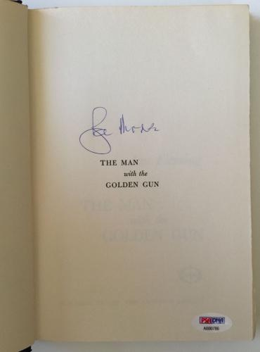 ROGER MOORE Signed JAMES BOND Man with the Golden Gun Fleming Book PSA/DNA COA!