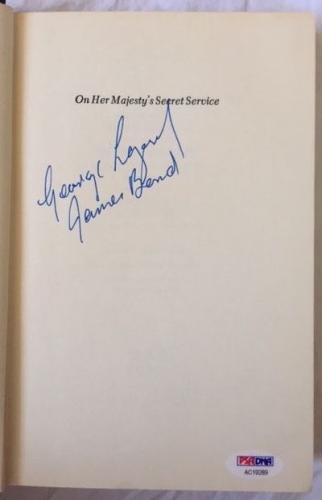 George Lazenby Signed ON HER MAJESTYS SECRET SERVICE James Bond 63 Book PSA COA