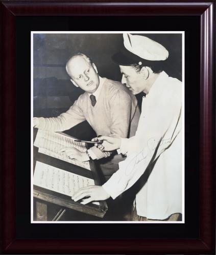 Frank Sinatra Rat Pack signed 7.5 x 9 photo framed vintage auto PSA /DNA LOA