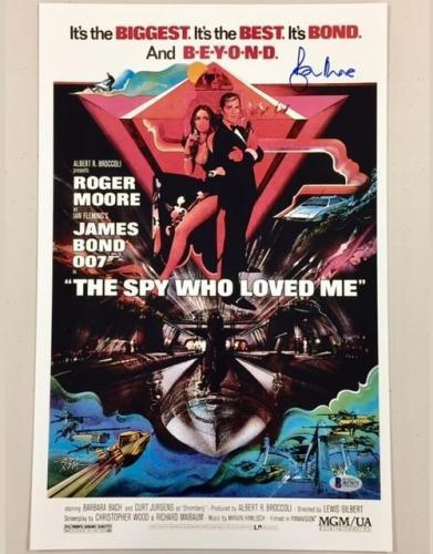 ROGER MOORE Signed SPY WHO LOVED ME 11x17 Movie Poster Photo BAS Beckett COA 007