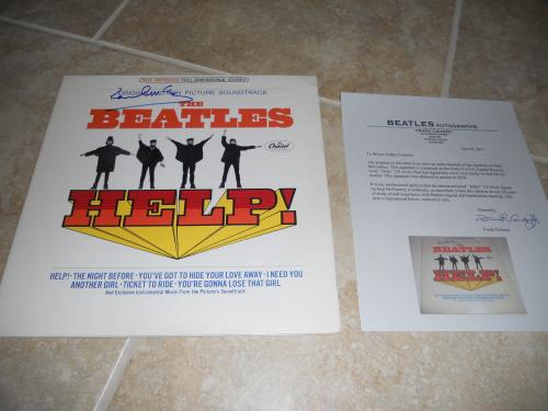 Paul McCartney Beatles IP Signed Autographed HELP LP Frank Caiazzo Certified