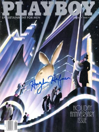 Hugh Hefner Signed Autographed Full January 1988 Playboy Magazine Beckett Bas