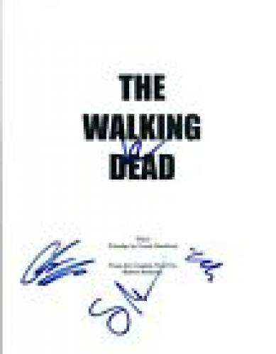THE WALKING DEAD Cast Signed Autographed Pilot Script Norman Reedus +3 COA VD
