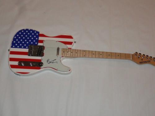 Ben Folds Signed Usa Flag Electric Guitar Ben Folds Five Rare Jsa Coa