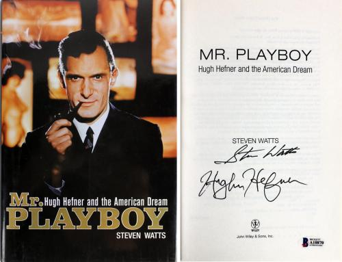 Hugh Hefner & Steven Watts Playboy Signed Mr. Playboy Hardcover Book BAS #A10870