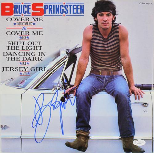 Bruce Springsteen Signed Cover Me Album Cover W/ Vinyl JSA #X59026