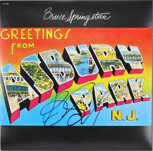 Bruce Springsteen Signed Asbury Park Album Cover W/ Vinyl JSA #Z71258
