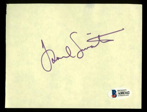 Frank Sinatra Signed 4.25x5.5 Yellow Album Page BAS #A88342