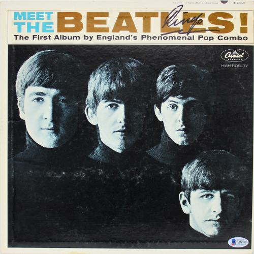 Ringo Starr Signed Meet The Beatles Album Cover BAS #A88351