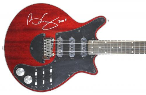 Brian May Queen Signed Antique Cherry Signature Series Guitar BAS #D06937