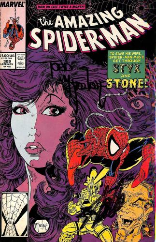 Stan Lee & Todd McFarlane Signed The Amazing Spider-Man #309 Comic BAS #E35329