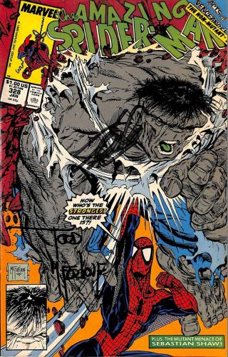 Stan Lee & Todd McFarlane Signed The Amazing Spider-Man #328 Comic BAS #E35330