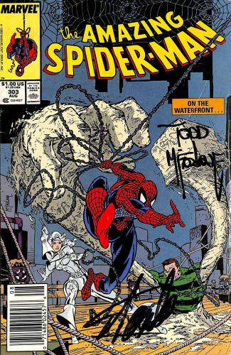 Stan Lee & Todd McFarlane Signed The Amazing Spider-Man #303 Comic BAS #E35332