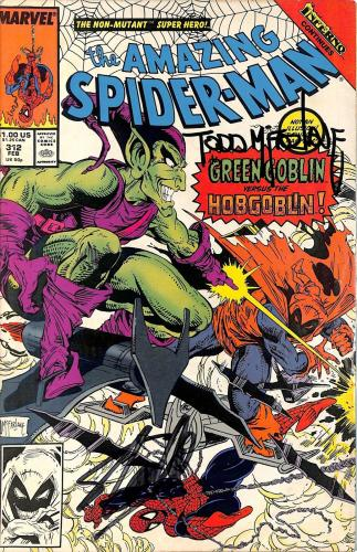 Stan Lee & Todd McFarlane Signed The Amazing Spider-Man #312 Comic BAS #E35334