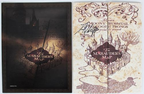 Daniel Radcliffe Signed 9 x 26.5 Harry Potter The Marauder's Map BAS #F84006