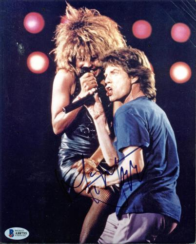 Mick Jagger Rolling Stones Signed 8x10 Photo Autographed BAS #A88755