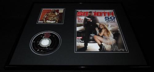 50 Cent 16x20 Framed ORIGINAL 2009 Smooth Magazine Cover & CD Display