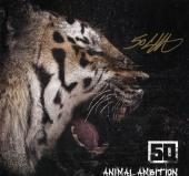 50 Cent Autographed Animal Ambition LP Flat UACC RD AFTAL
