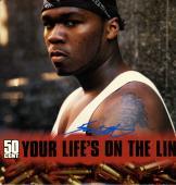 50 Cent Autographed Your Lifes On The Line Album Cover UACC RD COA AFTAL