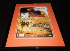 50 Cent Blood on the Sand PS3 XBox Framed 11x14 ORIGINAL Vintage Advertisement